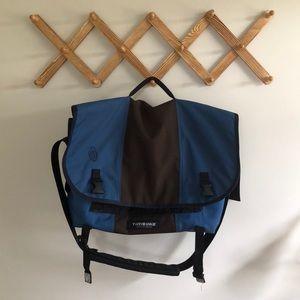 Timbuk2 Bags - Large Timbuk2 Messenger Bag — Navy and brown